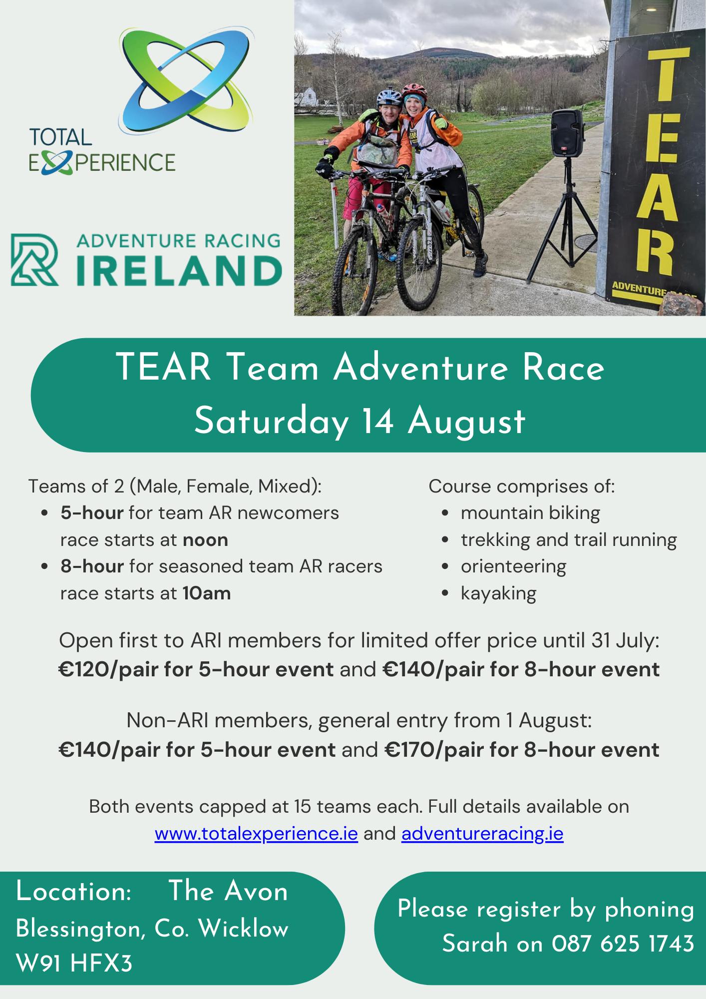 Image describing the TEAR adventure race